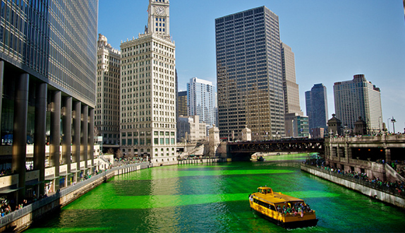 St. Patrick's Day Green River in Chicago