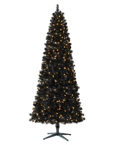 Treetopia Full Basic Black Artificial Christmas Tree