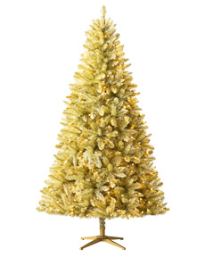 Treetopia - Toasted Champagne Gold Tinsel Artificial Christmas Tree #GoldChristmas #TinselTree