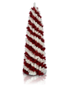 Peppermint Stick Pencil Christmas Tree