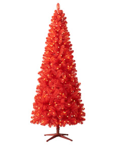 Rose Red Artificial Christmas Tree #RedChristmas