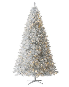 Silver Stardust Tinsel Tree <span>|7'|Full 56"