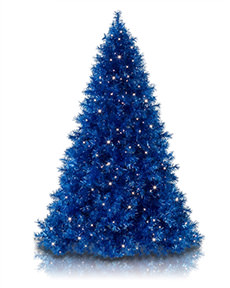 Sassy Sapphire Blue Tinsel Christmas Tree