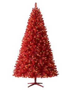 Treetopia Lipstick Red Artificial Christmas Tree