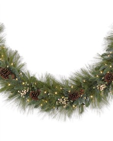Harvest Pine Garland <span>|10'|12"