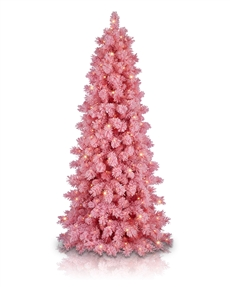 Angel Pink Flocked Christmas Tree <span>|7.5'|Slim 39"