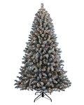 Treetopia Frosty Flocked Artificial Christmas Tree
