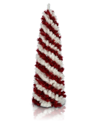 Treetopia Peppermint Stick Pencil Artificial Christmas Tree