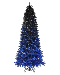 Black Blue Ombre Tree <span>|7'|Slim 37"