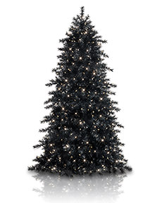 Treetopia Obsidian Black Artificial Christmas Tree