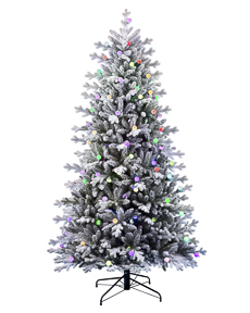 Color Carnival Flocked Tree <span>|7.5'|Full 53"