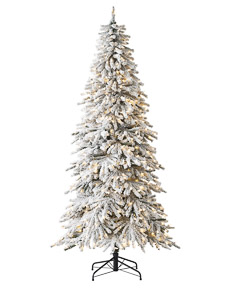 Snowy Spruce Flocked Christmas Tree <span>|7.5'|Slim 42"