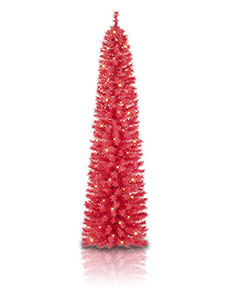 Hot Pink Pencil Tree <span>|7'|Pencil 19"