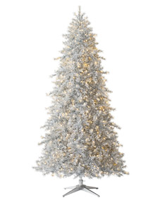 Tinkerbell Silver Christmas Tree <span>|7'|Slim 47"